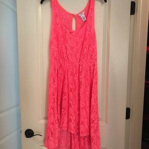 Candies Hot Pink Lace Dress